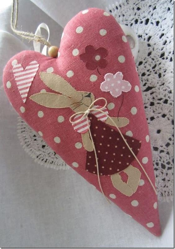 coração coelho pascoa decoração lembrancinha