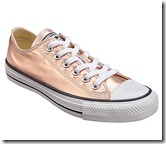 Converse metallic trainers