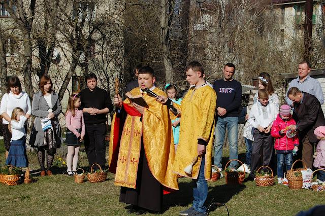 Свячення посок, ц. св. Миколая, Золочів, 2015 р.