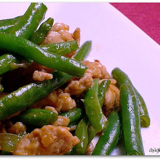 Scrambled Green Beans and Eggs