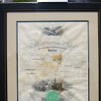James Harrison's appointment as a surgeon March, 1861 and signed by President Abraham Lincoln.