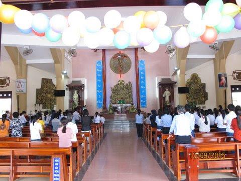 Hình ảnh Giáo xứ Khiết Tâm khai giảng năm học giáo lý 2015 - 2016