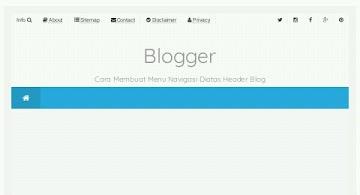 5 Menu navigasi untuk web keren dan simple