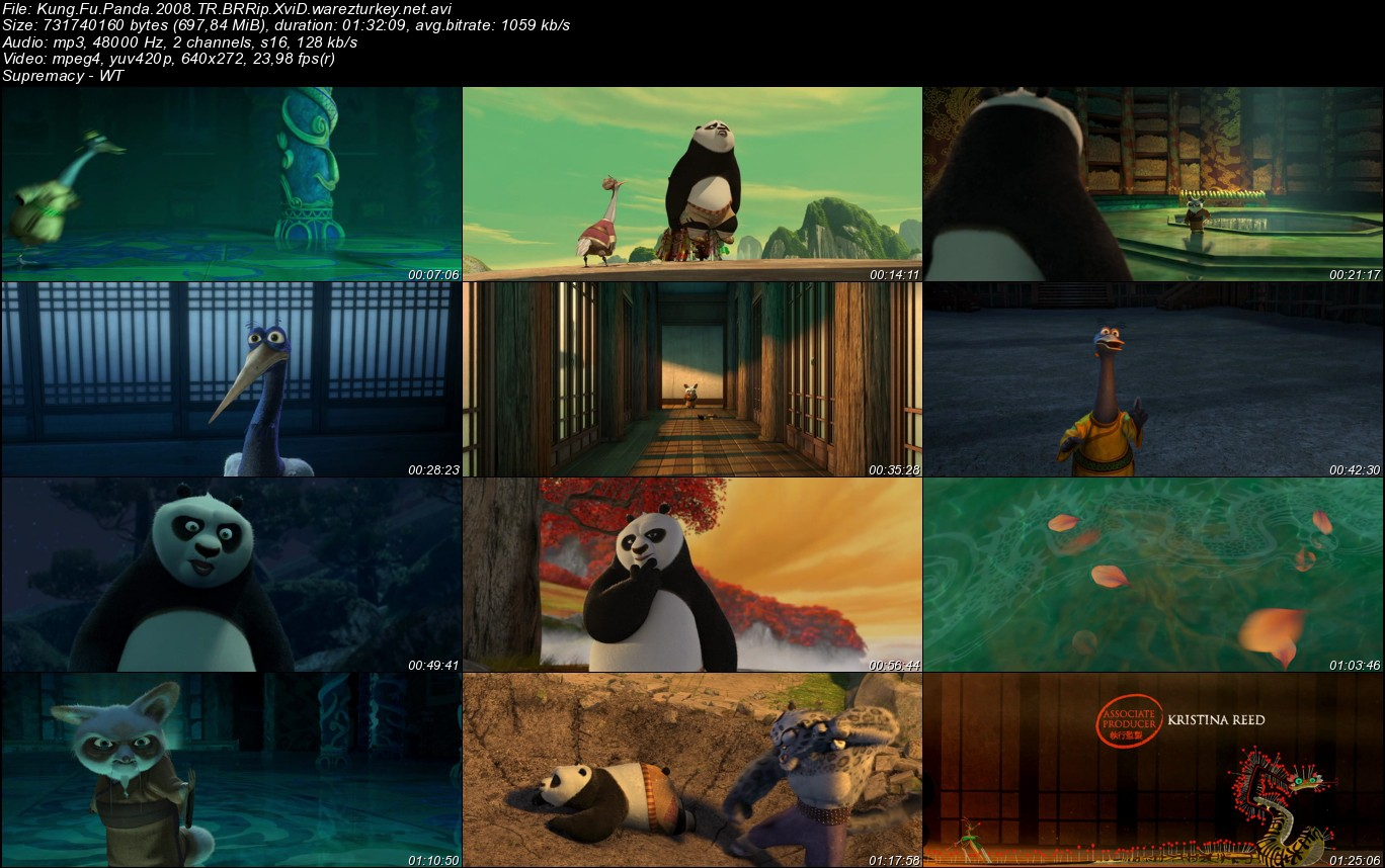 Kung Fu Panda 1 - 2008 Türkçe Dublaj BRRip Tek Link indir