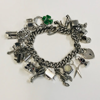 800 Silver and Sterling Silver Charm Bracelet