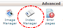 Tombol index manager