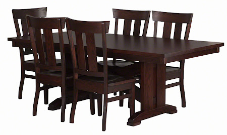 "80"" x 42"" Santego Table and Monaco Chairs in Frontier Oak"