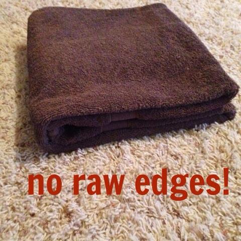 folding a towel