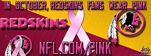 Redskins Breast Cancer Awareness Pink Facebook Cover Photo