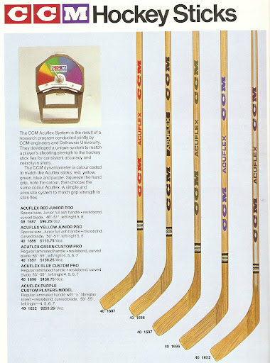 Vintage CCM | Layin' on the Lumber - The CCM Hockey Stick