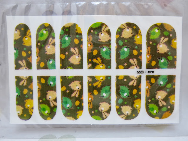 Birdies and Bunnies Nail Wrap