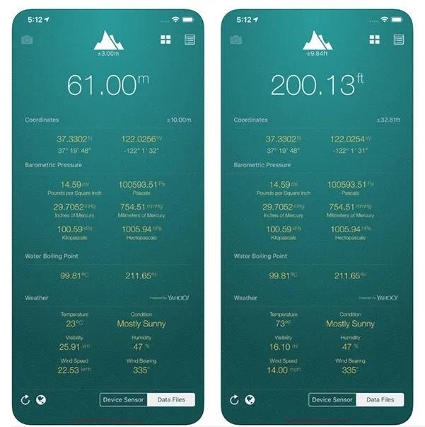 تطبيقات الارتفاع My Altitude