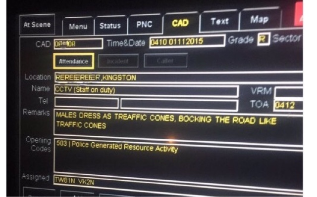 Taxi Leaks: Kingston: Cone Men Were Trying To 'Save Black