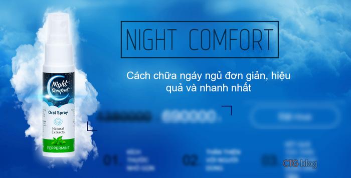 Thuốc chống ngáy ngủ dạng xịt Night Comfort