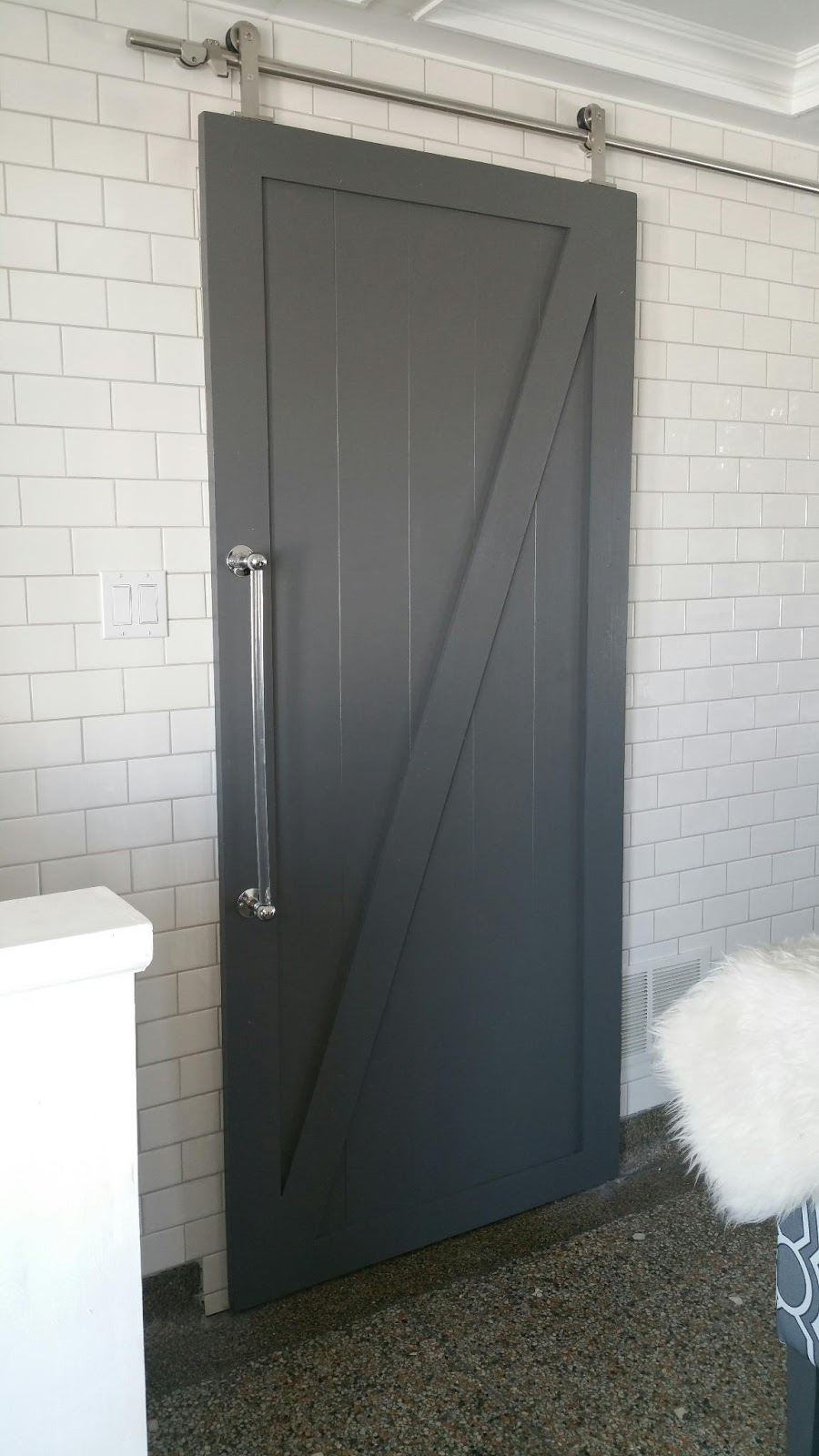 The Perfect Dark Grey Paint And A Barn Door Makeover