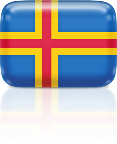 Aland-Island  flag clipart rectangular