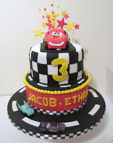 Cars Disney Themed Birthday Cake