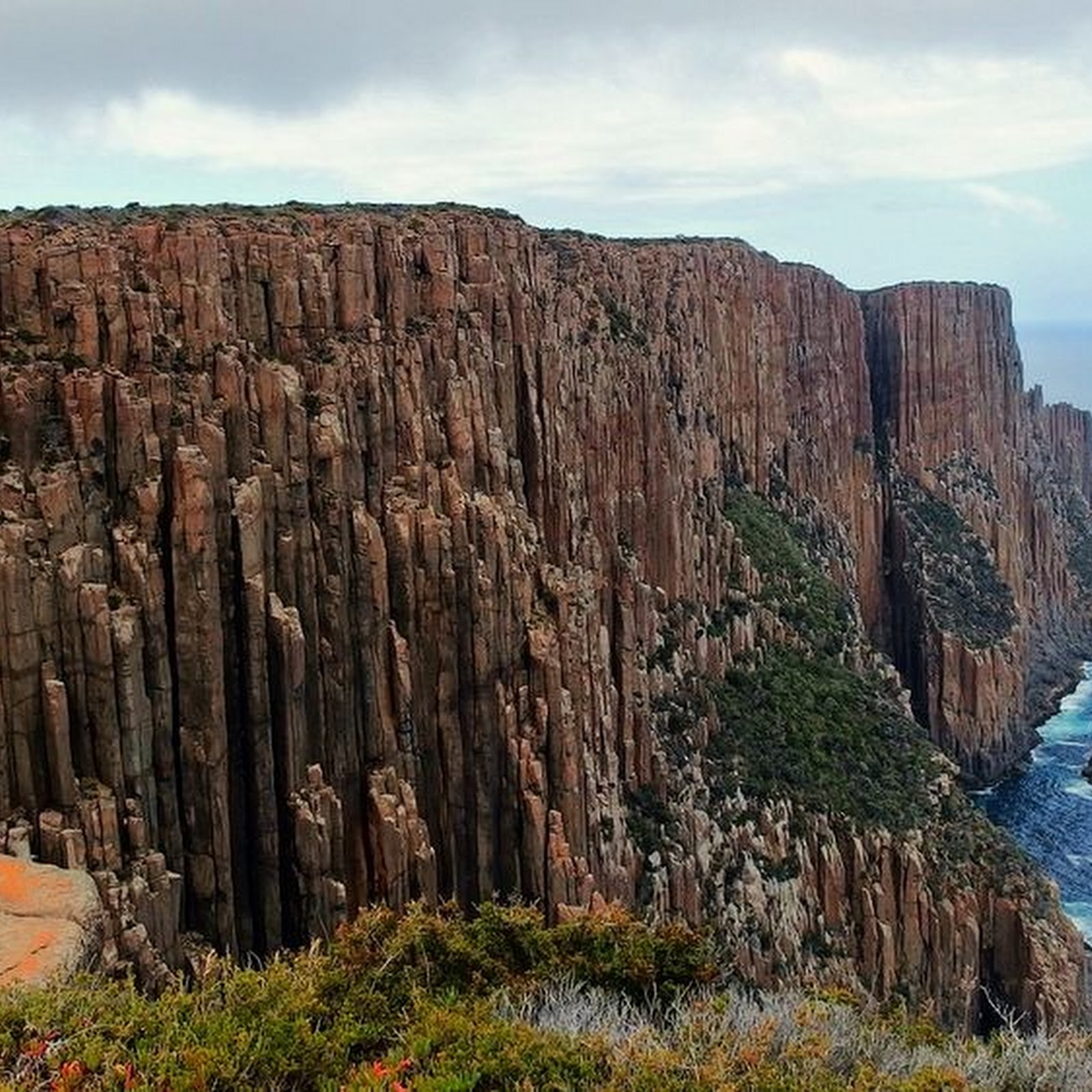 The Dolerite Columns Of Coastal Tasmania