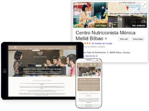 Diseño web de un centro de nutrición