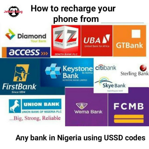 How To Recharge Through Your Bank Account Using Ussd Codes.