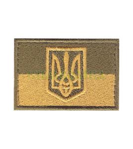 Прапорець захисний зелено-бежевий 6х4 см
