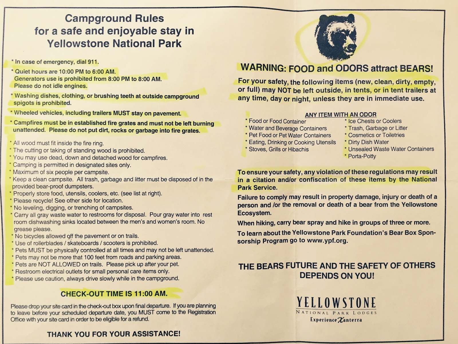 Img4768g yellowstone campground rules publicscrutiny Image collections