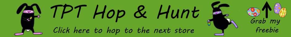 SLP Spring TpT Hop Hunt Banner Image