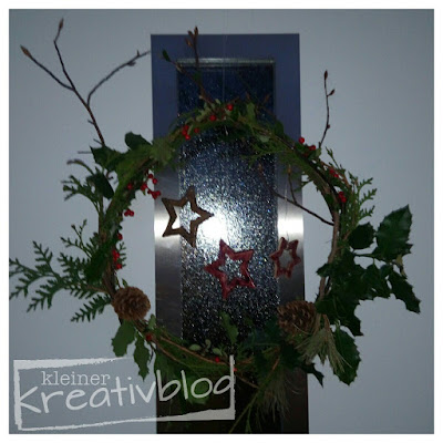 www.kleiner-kreativblog.de: Weihnachtlicher Türkranz