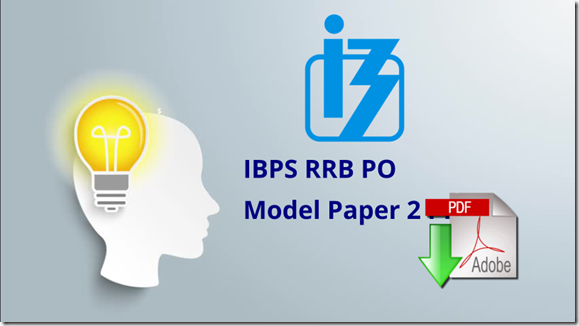 IBPS RRB Officer Scale 1 Prelims Question paper 2 pdf