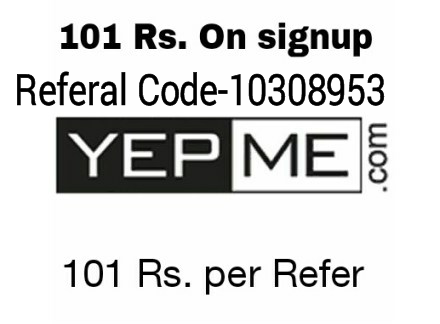 Yepme App Super Loot – Get Rs.101 On Sign Up + Refer Earn Rs.101