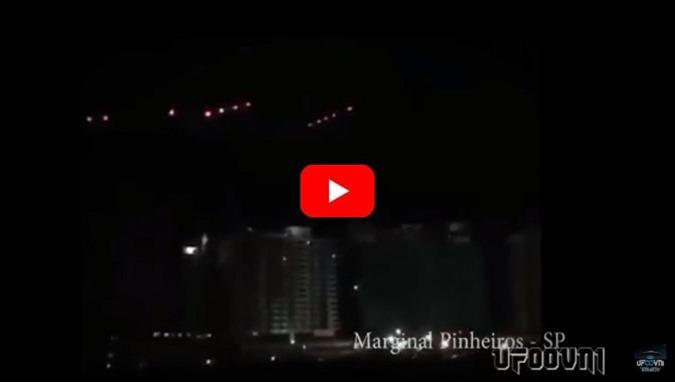 BRASIL, SÃO PAULO, FROTAS DE UFO OVNI EM LUGARES