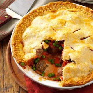 Meatball Pie ~ Source: Taste of Home