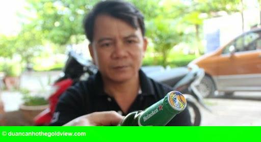 Hình 2: Chai bia Heineken đóng nắp Tiger ở miền Tây