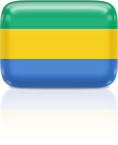 Gabonese flag clipart rectangular