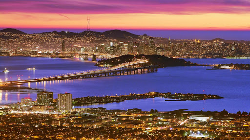 View of Downtown San Francisco at Dusk From the Berkeley Hills, California.jpg