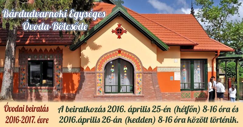 Bárdudvarnoki Egységes Óvoda-Bölcsőde beiratkozás 2016