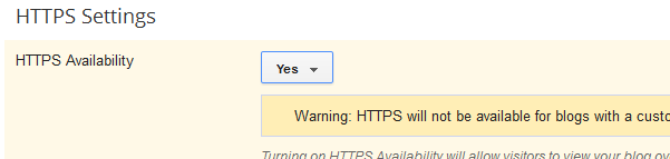 switching on HTTPS in blogger