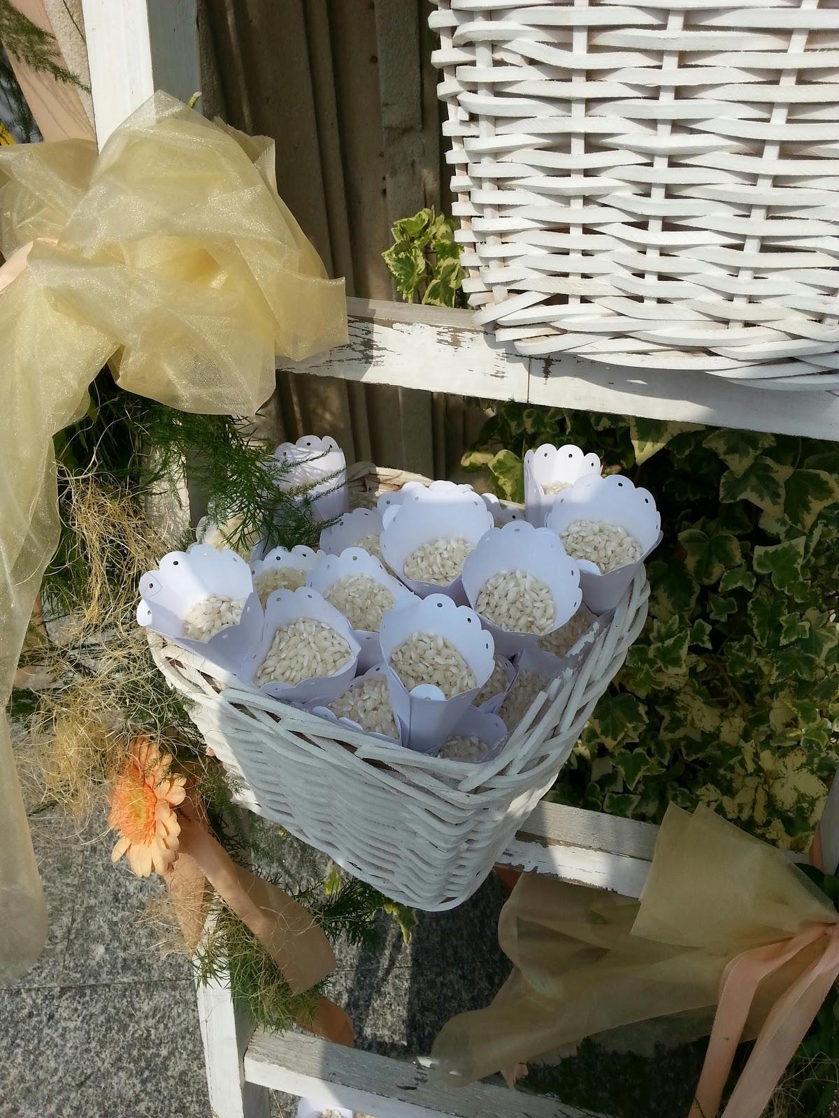 Froda creazioni decorazioni per il matrimonio coni porta - Cesti porta bomboniere matrimonio ...