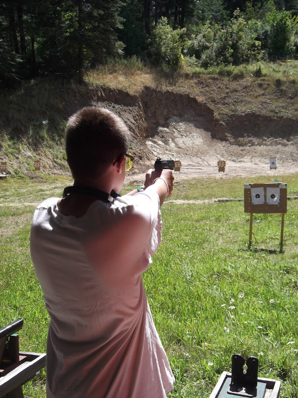 Matthew lining up with the Pistol