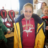 Another excited St Michael's school pupil in tries on a crew jacket! May 2013