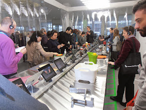 """Photo: Members of the press check out the Solutions exhibit of """"Innovative Products for Kitchen and Household."""" #ambiente14 #presstour"""