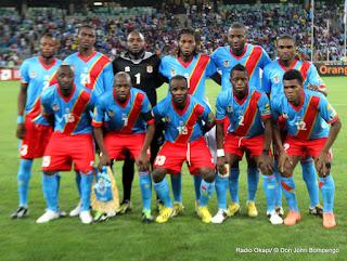Les Léopards de la RDC lors du match le Mali :1-1 le 28/01/2013  à Durban en Afrique du Sud. Radio Okapi/ © Don John Bompengo