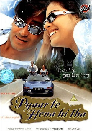 Poster Of Hindi Movie Pyaar To Hona Hi Tha 1998 Full HD Movie Free Download 720P Watch Online
