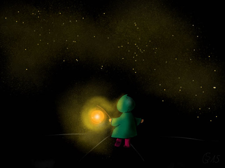 alone in the dark made with Sketches