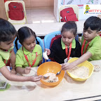 NO BAKE COOKIES - COOKING ACTIVITY BY JR KG SECTION ( 2017-18) AT WITTY WORLD, BANGUR NAGAR