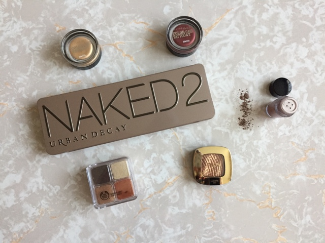 beauty, makeup, urban decay, naked 2, maybelline, loreal, bodyshop, revolution, cream eyeshadow, shimmer bricks, pigments, glitter, party, eye looks,