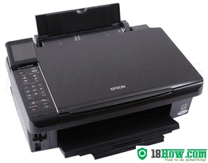 How to reset flashing lights for Epson SX515 printer