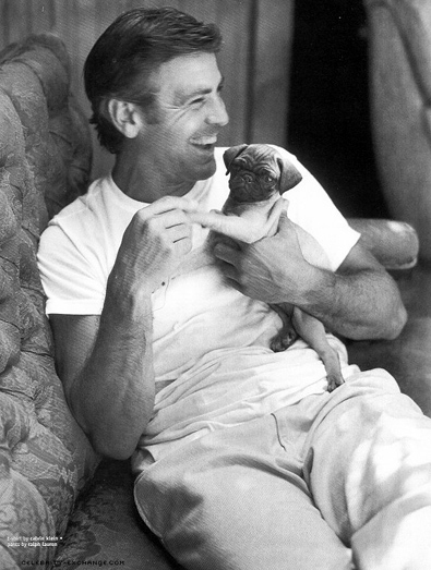 George Clooney and a dog