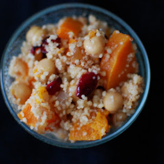 Cous Cous Salad with Butternut Squash and Cranberries