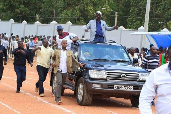 Raila Odinga in Bondo. PHOTO | RMS